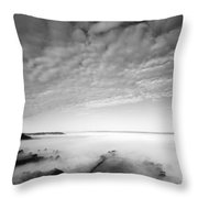 Sea Of Fog Throw Pillow