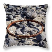 Sea Of Galilee Shoreline At Tabgha Throw Pillow
