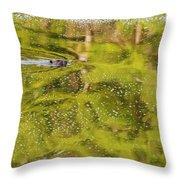 Sea Of Green Throw Pillow
