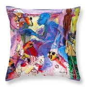 Sea Of Hate Throw Pillow