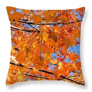 Sea Of Orange And Blue Throw Pillow