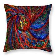 Sea Of Peacock Throw Pillow