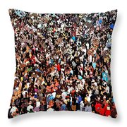 Sea Of People Throw Pillow by Glenn McCarthy Art and Photography