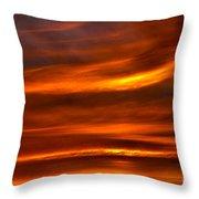 Sea Of Sun Throw Pillow by Alan Look