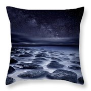Sea Of Tranquility Throw Pillow by Jorge Maia