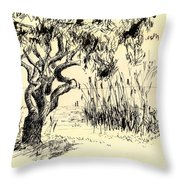 Sea Path Throw Pillow