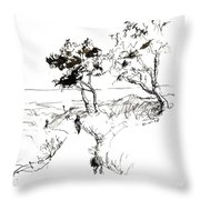 Sea Path_2 Throw Pillow