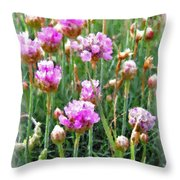 Sea Pinks Throw Pillow