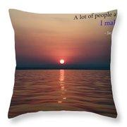 Sea Quote - Cousteau Throw Pillow