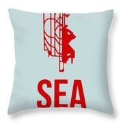 Sea Seattle Airport Poster 1 Throw Pillow by Naxart Studio