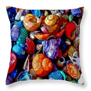 Sea Shell Abstract Throw Pillow