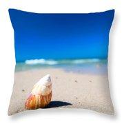 Sea Shell On The Beach Throw Pillow
