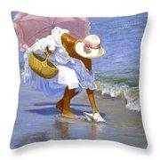 Sea Shell Pink Throw Pillow