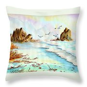 Sea Shore Impressions Throw Pillow