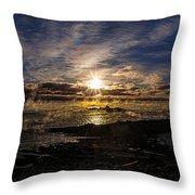 Sea Smoke Panorama Throw Pillow