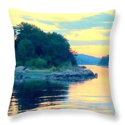 When Our Sea So Silent, Our Life Is So Good  Throw Pillow