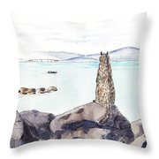 Sea Squirrel Throw Pillow