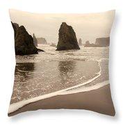 Sea Stacks At Bandon 2 Throw Pillow