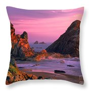 Sea Stacks Clearing Storm Harris State Beach Oregon Throw Pillow