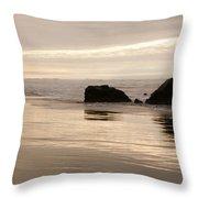 Sea Stacks Panorama Throw Pillow