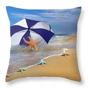 Sea Star Celebration  Throw Pillow