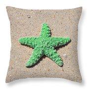 Sea Star - Green Throw Pillow by Al Powell Photography USA
