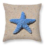 Sea Star - Light Blue Throw Pillow