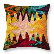 Sea Star Parade Throw Pillow