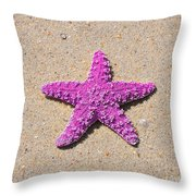 Sea Star - Pink Throw Pillow