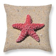 Sea Star - Red Throw Pillow