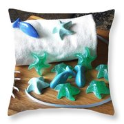 Sea Stars Mini Soap Throw Pillow