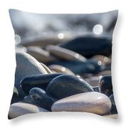Sea Stones  Throw Pillow