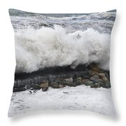 Sea Storm  Throw Pillow