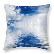 Sea Sun And Clouds Throw Pillow