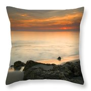 Sea Sunset Throw Pillow