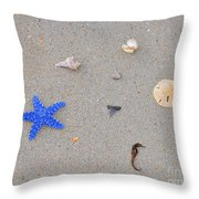Sea Swag - Dark Blue Throw Pillow by Al Powell Photography USA