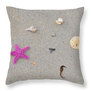 Sea Swag - Pink Throw Pillow