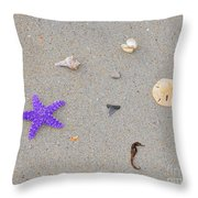 Sea Swag - Purple Throw Pillow