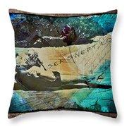 Sea Swept Love Throw Pillow