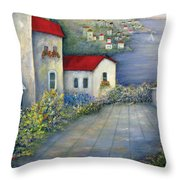 Sea Terrace Throw Pillow