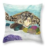 Sea Turtle Hello Throw Pillow