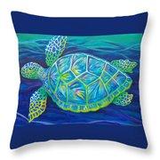 Sea Turtle I Throw Pillow