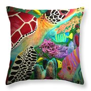 Sea Turtle Throw Pillow