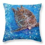 Sea Turtle Mr. Longevity Throw Pillow