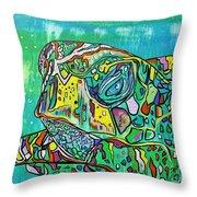 Sea Turtle Sam Throw Pillow