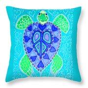 Sea Turtle Swim Throw Pillow