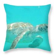 Sea Turtle Time Throw Pillow