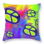 Sea Turtles Swimming  Throw Pillow