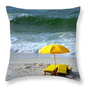 By The Sea Waiting For Me Throw Pillow
