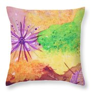 Sea Urchins - Abstract Throw Pillow